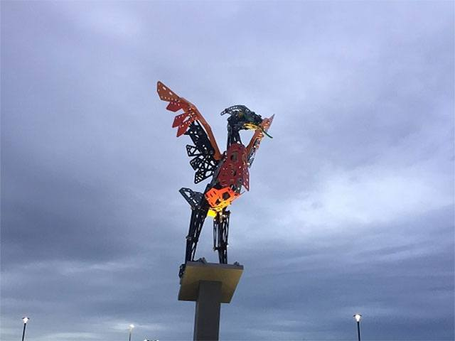 Liver bird meccano at LSP