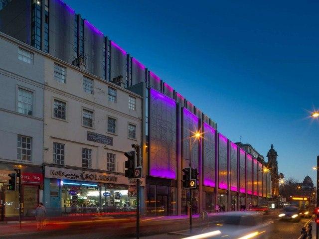 Lime Street Liverpool façade lighting
