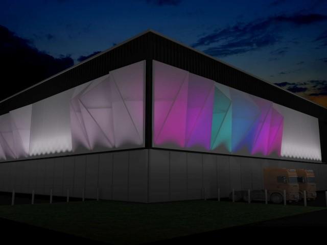 NEC façade lighting