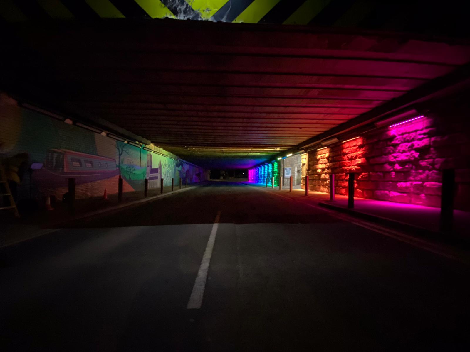 Mirfield underpass lighting